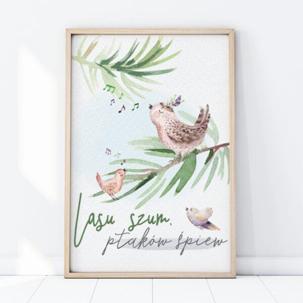 1 max 53 600x600 - Plakat na ścianę lasu szum ptaków śpiew