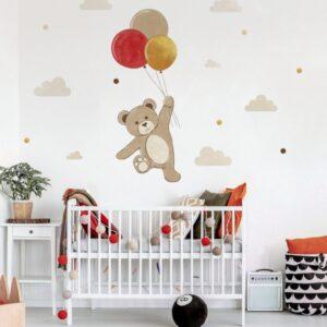 1 max 55 1 300x300 - Naklejka na ścianę miś z balonikami DK241