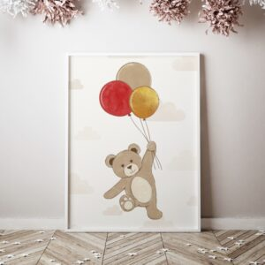 1 max 67 300x300 - Plakat na ścianę miś z balonikami