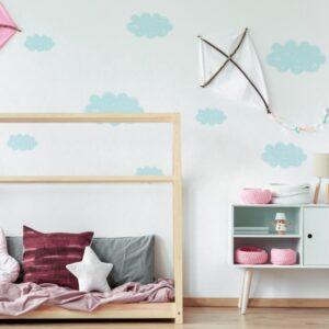 Naklejki na ścianę pastelowe chmurki