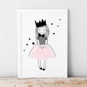 Plakat na ścianę księżniczka Amelka