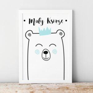 Plakat na ścianę mały książę miś