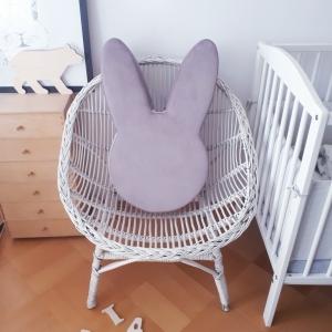 Pufa królik dla dzieci lila
