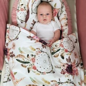 20190118 103531 1 300x300 - Kocyk niemowlęcy łapacz snów róż