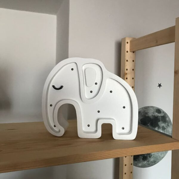 Lampa dla dzieci pastelowy słoń