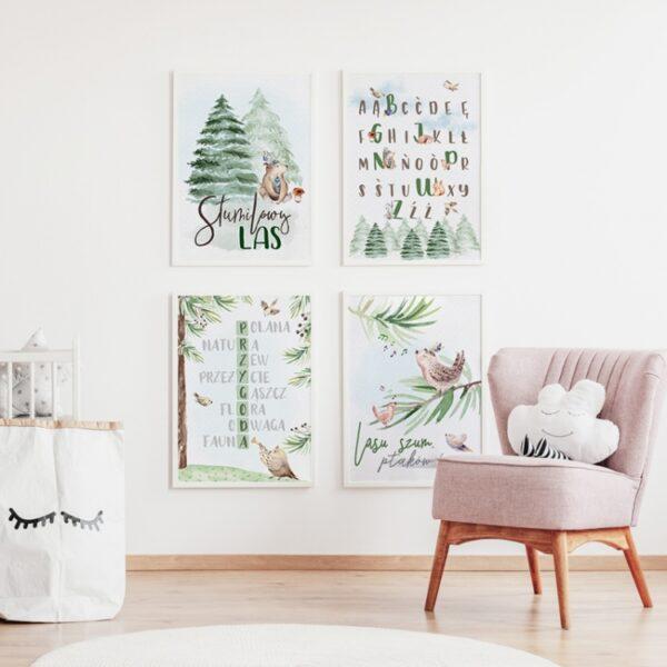 2 max 39 600x600 - Plakat na ścianę lasu szum ptaków śpiew