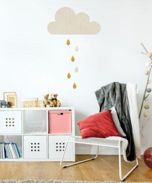 2 max 43 300x360 - Naklejka na ścianę duża chmurka z kroplami