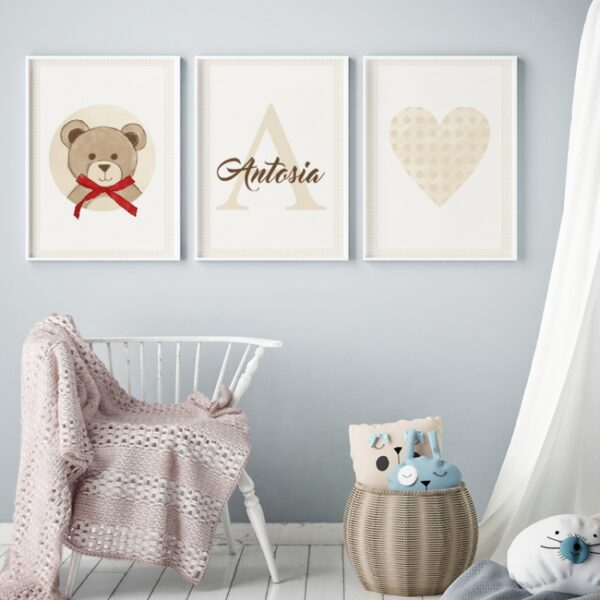 2 max 53 600x600 - Plakat na ścianę serce vintage