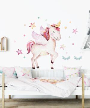2 max 6 300x360 - Naklejka na ścianę pastelowy jednorożec