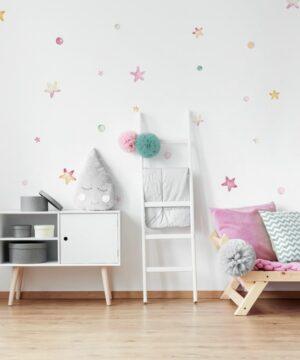 2 max 9 300x360 - Naklejki na ścianę pastelowe gwiazdki i groszki