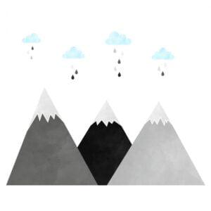 3 max 30 300x300 - Naklejki na ścianę góry i chmurki DK233