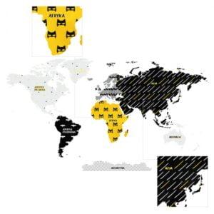 4 max 300x300 - Naklejka na ścianę mapa świata superbohater DK330