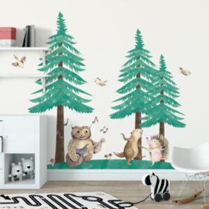 Naklejka na ścianę leśna kapela