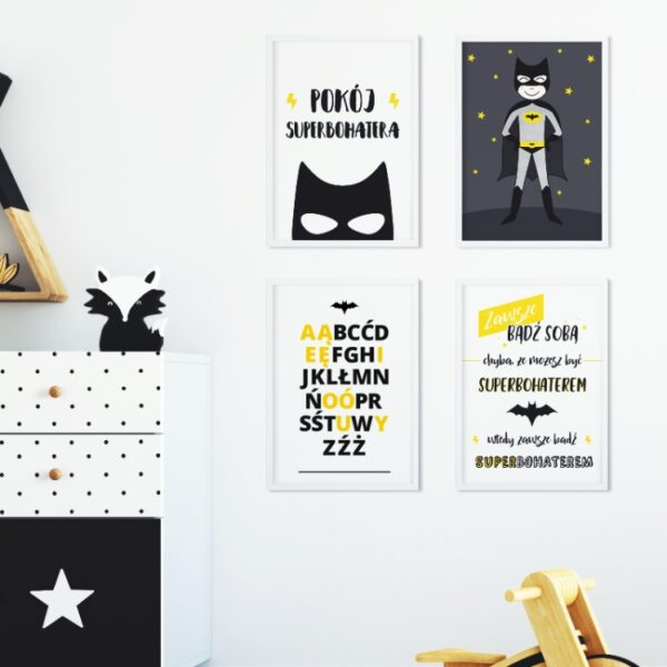 5 max 9 600x600 - Plakat na ścianę alfabet superbohatera