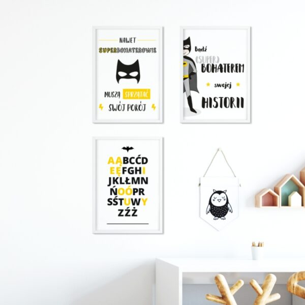 6 max 3 600x600 - Plakat na ścianę alfabet superbohatera