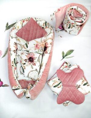 Wyprawdka dla niemowlaka łapacz snów różowy