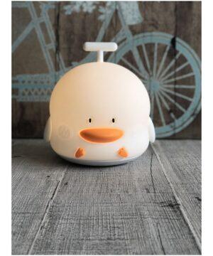 lampka kaczka biala3 300x360 - Lampka LED kaczuszka biała