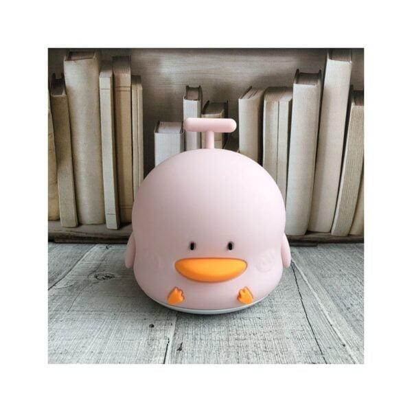 lampka kaczka rozowa1 600x600 - Lampka LED kaczuszka różowa