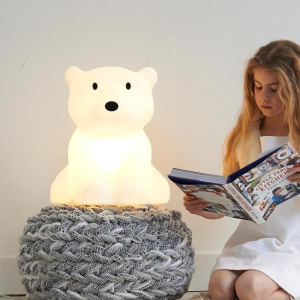 leila nanuk6 Copy 600x600 - Lampa dla dzieci miś polarny