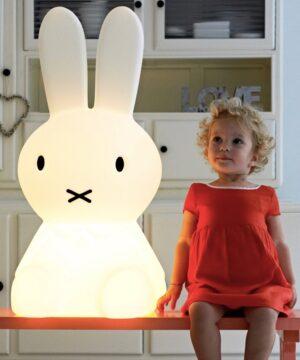 nijntjegrootaan5 300x360 - Lampa Miffy XL Mr Maria