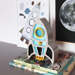 rakieta niebieska4 300x300 - Lampa dla dzieci rakieta