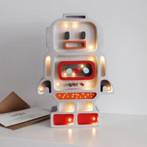 robot1 300x300 - Lampka nocna dla chłopca robocik