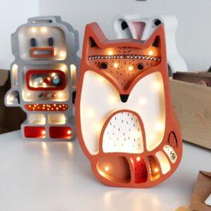 rudy lis3 300x300 - Lampka nocna dla dzieci rudy lisek