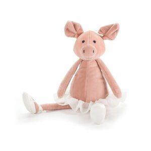 Maskotka przytulanka świnka tancerka