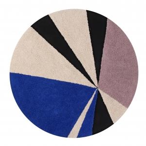Okrągły wielokolorowy dywan do pokoju dziecka