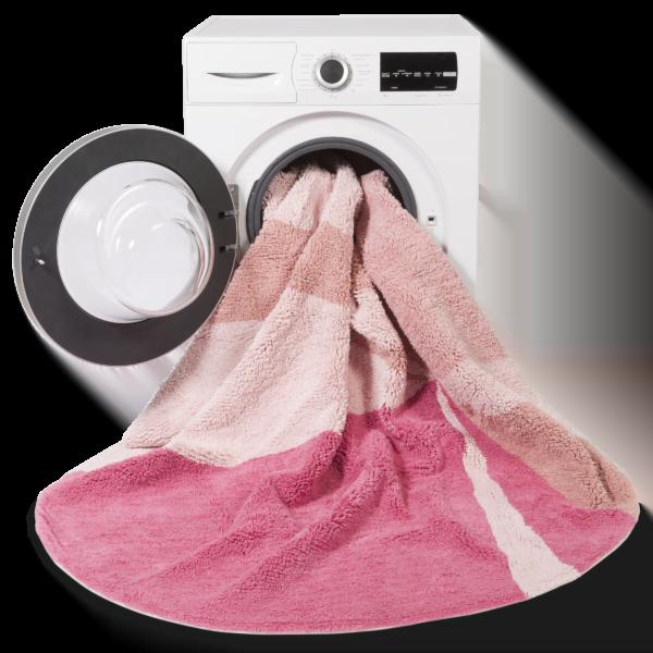 Okrągły różowy dywan do pokoju dziecka