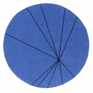 okrągły dywan granat