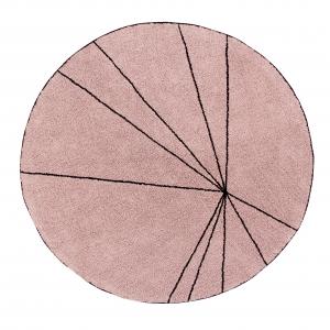 okrągły dywan różowy do pokoju dziecka