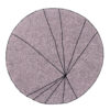 okrągły dywan pudrowy róż