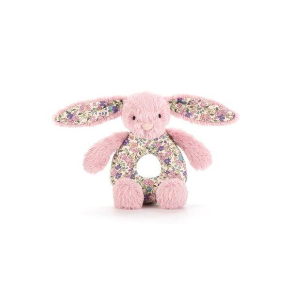 grzechotka królik różowy dla niemowląt