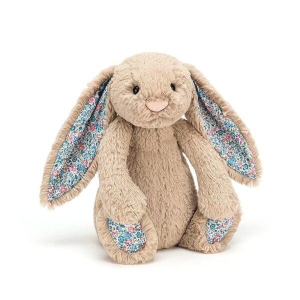Maskotka królik beżowy k. uszy 18 cm