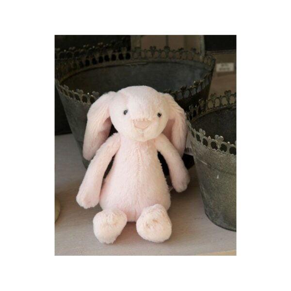 krolik grzechotka 18cm 2 600x600 - Grzechotka królik różowy 18 cm