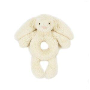 królik grzechotka kremowa dla niemowląt