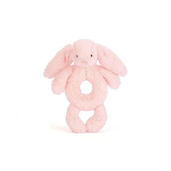 królik grzechotka różowa maskotka dla niemowląt