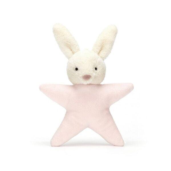 Grzechotka królik z różową gwiazdką