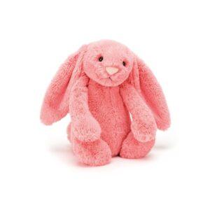 maskotka przytulanka dla dzieci króliczek koralowy