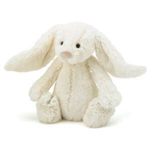maskotka przytulanka dla dzieci króliczek kremowy
