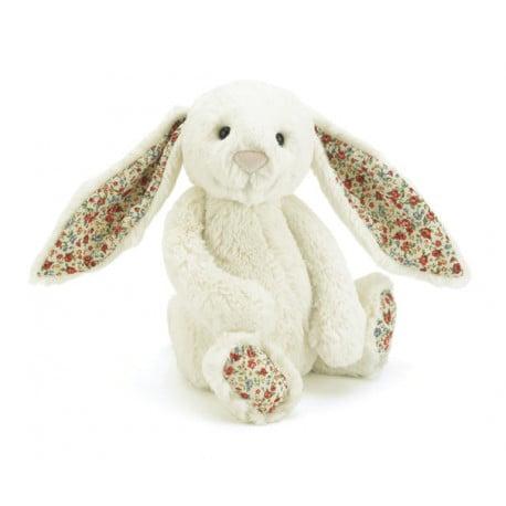 królik kremowy z kolorowymi uszkami 36 cm jellycat dla dzieci