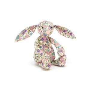 maskotka dla dzieci mały króliczek w kwiaty jellycat