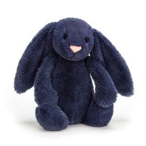 maskotka przytulanka dla dzieci króliczek granatowy jellycat