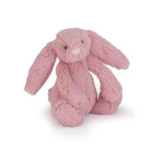 maskotka dla dzieci mały króliczek ciemno różowy jellycat