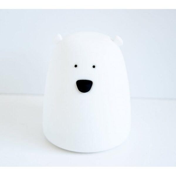 lampka mis maly bialy 600x600 - Lampka Miś mały biały