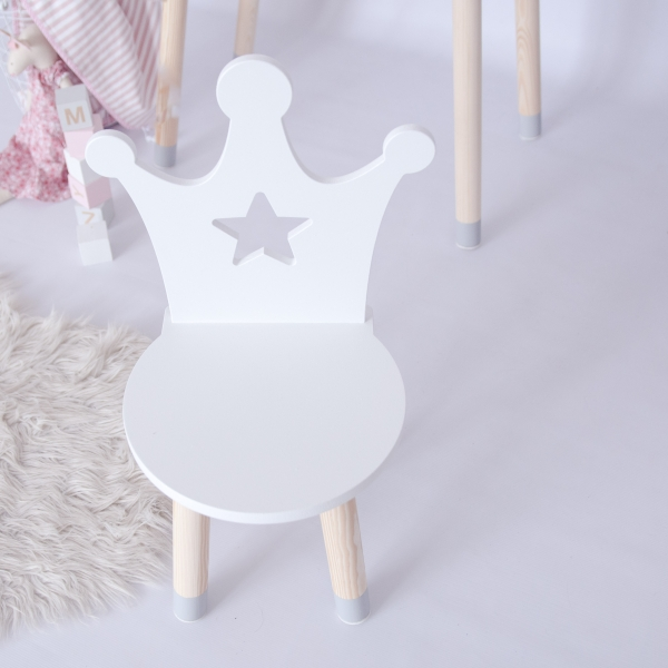 Krzesełko dziecięce korona z gwiazdką