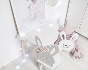 Krzesełko dla dziecka króliczek