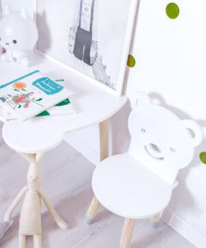 Krzesełko dla dzieci uśmiechnięty misiu