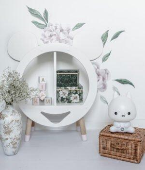 półeczka do pokoju dziecięcego w kształcie głowy myszki